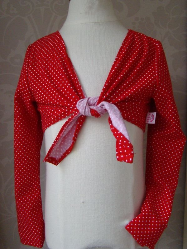 Bolero Cardigan - Polkadot Rosso