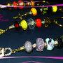 "Portachiavi dorati ""Colored Keys"""