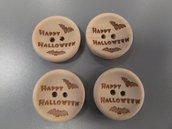 Happy Halloween, bottoni 20mm in legno naturale per abbigliamento,cucito creativo e decorazioni.