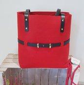 Borsa rossa cintura