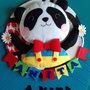 fiocco nascita - piccolo panda - birth wreath - bear