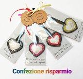 Confezione risparmio di portachiavi a forma di cuore in ecopelle