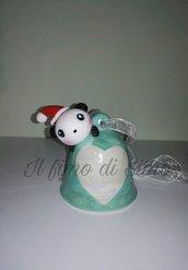 campanella decorazione natalizia in pasta polimerica