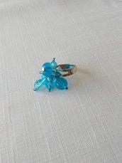 anello regolabile colore azzurro