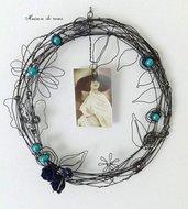 Cornice portafoto perla  blu