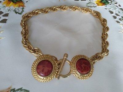 OFFERTA!!! Collana in metallo dorato opaco,  vintage anni 70 /80