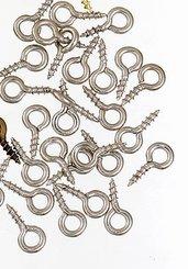 200 Pezzi Gancio a Vite  8x4mm per Ciondoli Terminali perni bigiotteria,r collane, bomboniere, bracciali, feste party eventi Natale