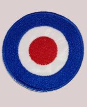 Toppa (patch) ricamata termoadesiva coccarda VESPA diametro cm. 7 e cm 8