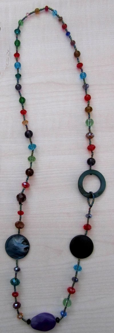 collana lunga colorata