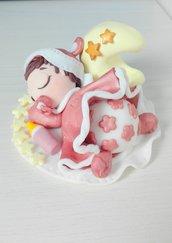 Bimba regalo nascita o cake topper