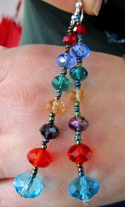 orecchini coloratissimi