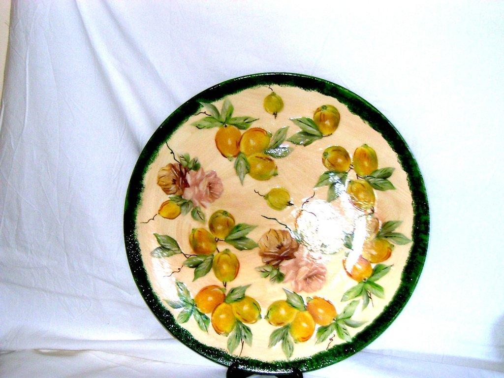 Piatto tondo limoni e fiori (NON DISPONIBILE)