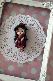 Ciondolo bambolina in fimo