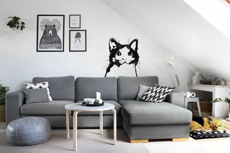Adesivo gatto sagoma formato grande