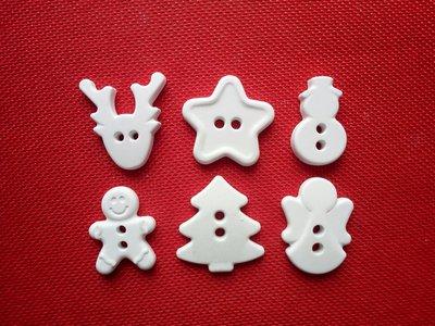 Gessetti bottoni natalizi