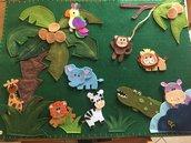 Pannello gioco gli aninali della giungla
