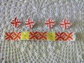 Bracciale completo di due paia di orecchini disegno etnico