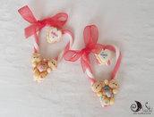 """Addobbo natalizio  candycane cuore personalizzabile """"Siamo in Tre"""" idea regalo speciale famiglia"""