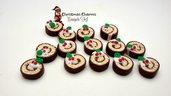 Ciondolo fetta girella natalizia pendente materiale creativo bigiotteria accessori bomboniere natale