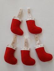 Addobbi Natalizi calzina rossa da appendere
