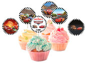 Topper per cupcake CARS per feste di compleanno