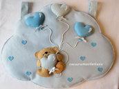 Portapigiamino nuvola orsetto con palloncini a cuore