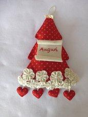 Fuoriporta natalizio albero rosso
