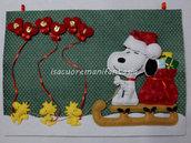 Fuoriporta natalizio Snoopy