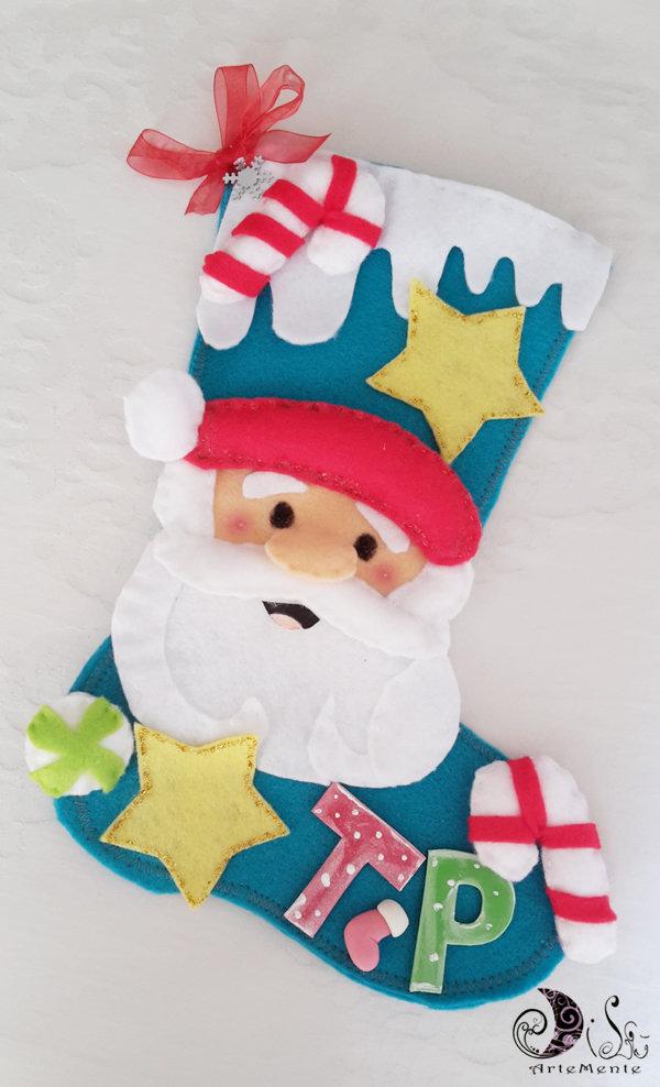 Idee Regalo Amici Natale.Calza Della Befana Calza Natalizia Babbo Natale Idee Regalo Migliori Amici Personalizzabile