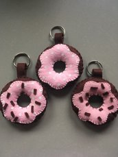 Donuts portachiavi rosa