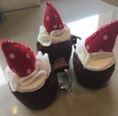 Cupcake fragola Portachiavi