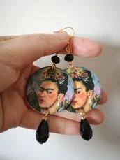 Orecchini Frida con perla nera