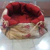Cestino di stoffa imbottito portafrutta secca