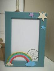 Cornice unicorno arcobaleno Idea regalo bambini Battesimo compleanno Personalizzabile con nome