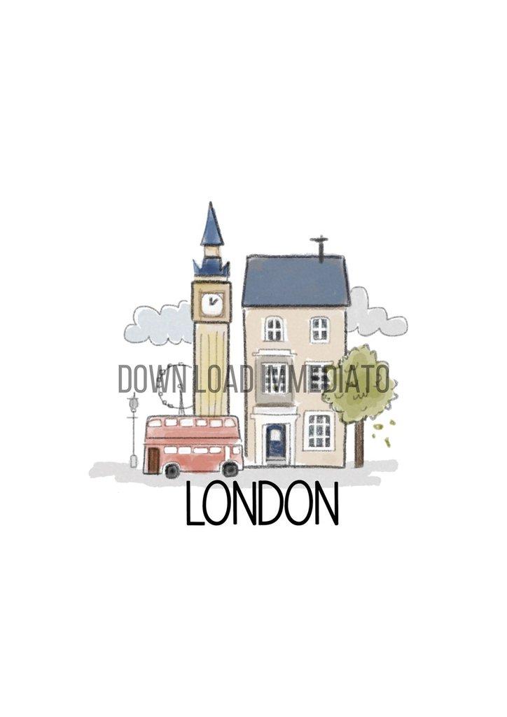 illustrazione digitale della città di Londra
