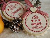 Decorazione con dedica, primo natale, frasi speciali, regali di natale, regali personalizzati