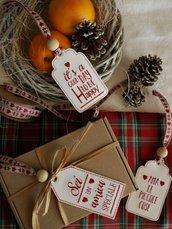 Tag con dedica, frasi speciali, regali di natale, regali personalizzati, portachiavi, segnalibro, chiudi pacco