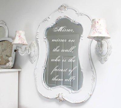 Adesivo Fairy Mirror specchio delle mie brame