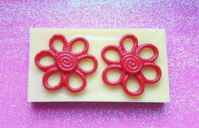 Stampo in gomma siliconica Orecchini Fiori Margherite