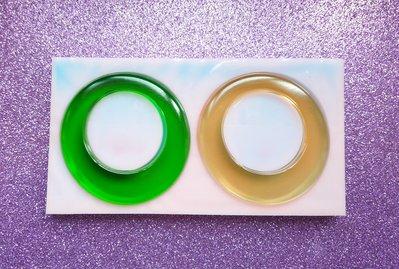 Stampo in gomma siliconica Orecchini Cerchi Grandi