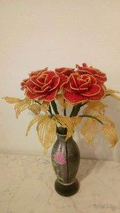 Fiori finti rose di perline