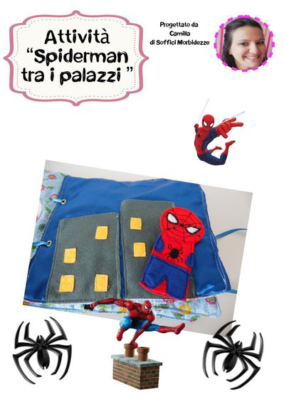 "TUTORIAL ATTIVITA' QUIET BOOK ""Spiderman tra i palazzi""- PDF"