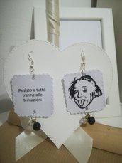 Orecchini carta Gioielli decoupage Bianco e Nero Idea regalo Personalizzabili