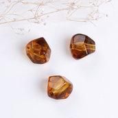(1 pezzo) Perle perline irregolari effetto sfaccettate 12 mm decorazioni bomboniere spaziatori divisori bigiotteria
