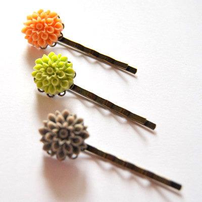 Three Flower Bobby Pins