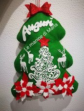 Fuoriporta natalizio verde