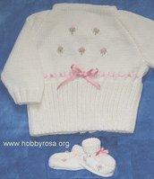Scheda con istruzioni Coprifasce + scarpine da fare a maglia