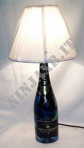 Abat Jour Lampada da tavolo Bottiglia Vuota Moet & Chandon Nectar Imperial  idea regalo riciclo creartivo
