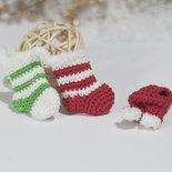 Amigurumi Set 3 decorazioni Albero Natale