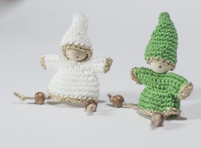 Gnomo folletto portafortuna amigurumi verde. decorazioni ornamenti ... | 295x400